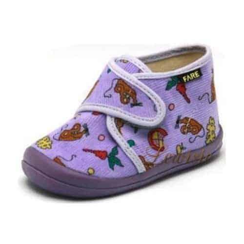 -FARE 4012491 fialová Dětská obuv domácí vel.18 18 fialová