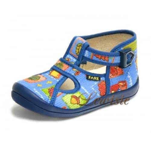 FARE 4114407 modrá Dětská obuv domácí vel.24 a 25  5e4791c854
