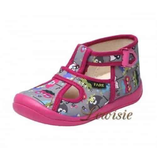 FARE 4114446 šedorůžová Dětská obuv domácí vel.23-30  131ed3f862