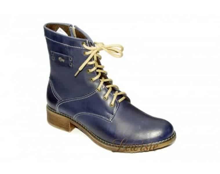 Peon AM 227-3 modrá Dámská kotníková obuv vel.37-41  9abee67138