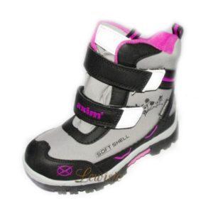 Dívčí zimní obuv Softshell šedá AS 3Z11576P vel.28-36 8ce6787234