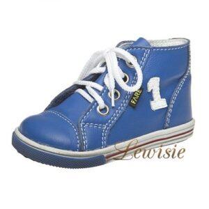 84b5c5a2c32 Fare 2151104 modrá Dětská vycházková obuv vel.19-26