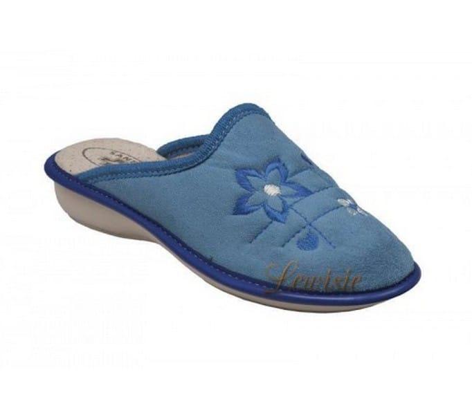 4e50e59dee3 Santé LX 214 BLUE modrá Dámská domácí obuv vel.40