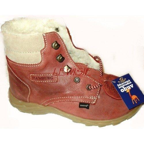 Santé 448 503 červená Dětská zimní obuv vel.33  bd22532291