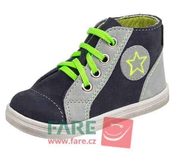 Fare 2151261 modrá Dětská vycházková obuv vel. 22 a 23  c97c45ddc2