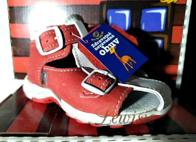 28bc35bc33a23 Santé 850/901 34/04 červená Dětský zdravotní sandál vel. 21 | Lewisie ZP
